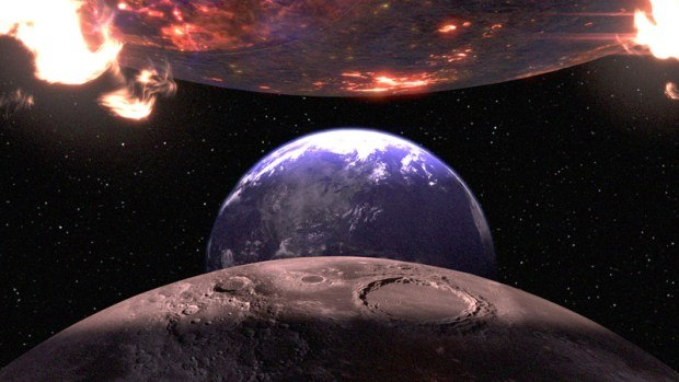 A virtual environment effects shot from the Smallville finale.