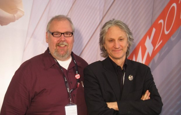 Dan Sarto with Jeff Okun at FMX 2011.