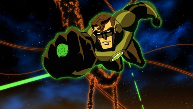 Green Lantern Hal Jordan narrates the tales of other Green Lantern Corps members. All images courtesy of Warner Bros.