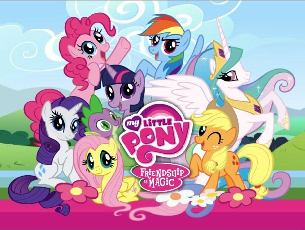 My Little Pony: Friendship is Magic group shot. Courtesy of The Hub.