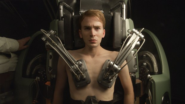 Chris Evans was transformed into the scrawny Steve Rogers. All images © 2011 - Paramount Pictures