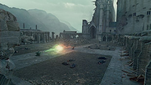 An all CG Hogwarts is one of the many vfx highlights of the Harry Potter finale. All images © 2011 Warner Bros. Ent.