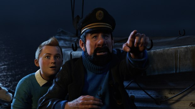 Steven Spielberg gets Tintin and Captain Haddock ready for their big screen debut. All images © 2010 DW Studios L.L.C. All rights reserved.