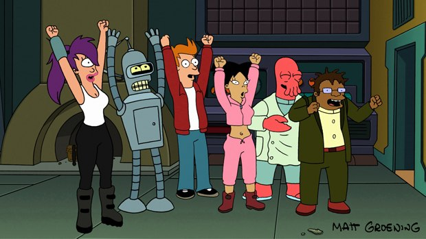 The characters, cast and crew aren't the only ones happy with the return of Futurama. All images ™ and © 2010 Twentieth Century Fox Corporation. All Rights Reserved.