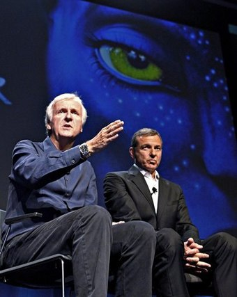 James Cameron says the 3-D business model is working just fine.