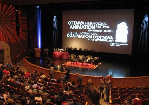 Closing ceremonies, Ottawa International Animation Festival 2011.