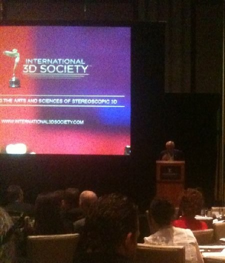 Keynote speaker Jim Chabin, President of the International 3-D Society.