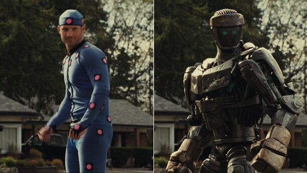 Atom on the set and in the movie. All images courtesy of Digital Domain.