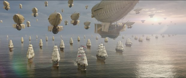 In this version of The Three Musketeers airships that are the warships of the day. All images courtesy of Mr. X.
