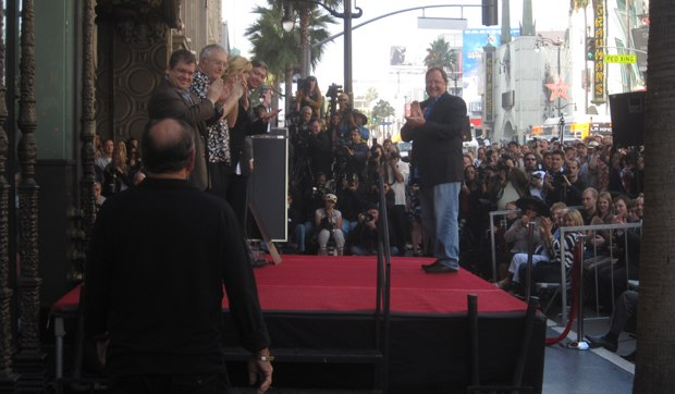 John Lasseter receives his star on the Hollywood Walk of Fame. (c) AWN, Inc.