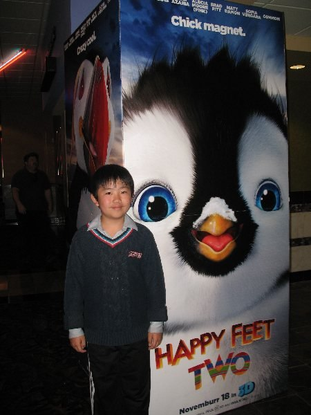 Perry at Happy Feet 2 press screening.