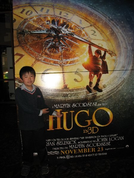 Perry at Hugo press screening.