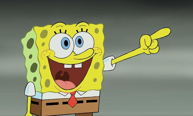 Everyone seems to be pointing fingers at SpongeBob. All images courtesy of Nickelodeon.