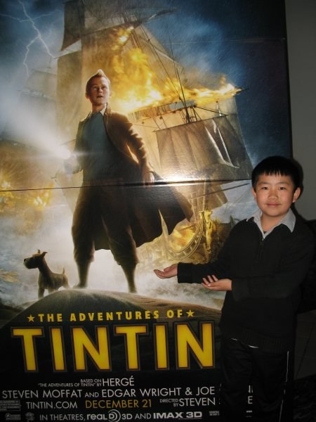 Perry at the Adventures of Tintin screening.