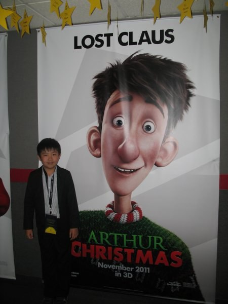 Perry at the Arthur Christmas screening.