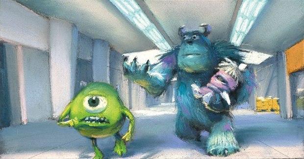 Monsters, Inc. Dominique R. Louis, Pastel, 1999-2000.