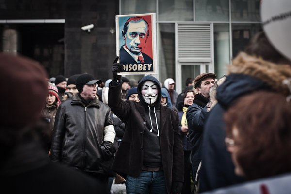 Recent election protests in Russia.