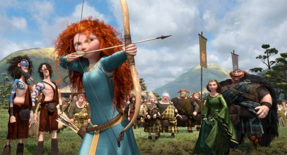Princess Merida takes aim. Images and concept art from Pixar's upcoming feature, Brave ©Disney/Pixar. All Rights Reserved.