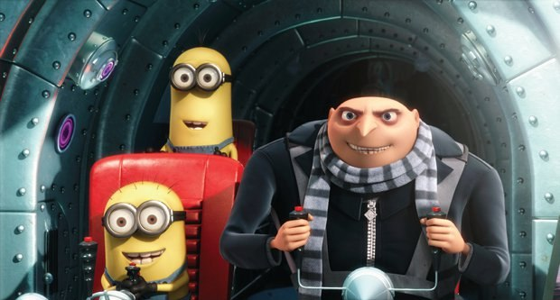 Gru and his Minions. Image courtesy of Universal Pictures.