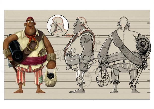 The Burly Pirate. Click any image to view a higher-res version. All Images © Aardman Features