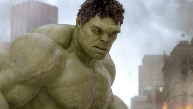 ILM relied on Ruffalo's performance in animating the Hulk, down to the pores of his skin and gray temples. All images TM & © 2012 Marvel & Subs. www.marvel.com