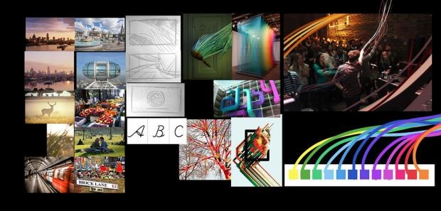 Concept Board for Colin Bigelow & Jay Harwood's HEART OF LONDON
