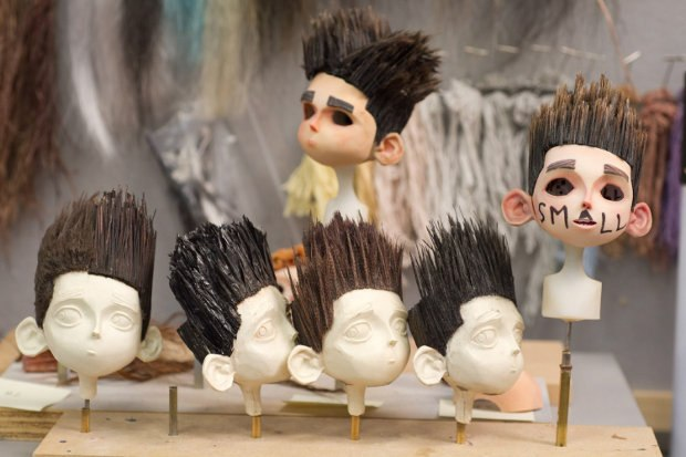 Many copies of wigs of Norman's hair had to be made for stunt sequences. All images courtesy of LAIKA, Inc.