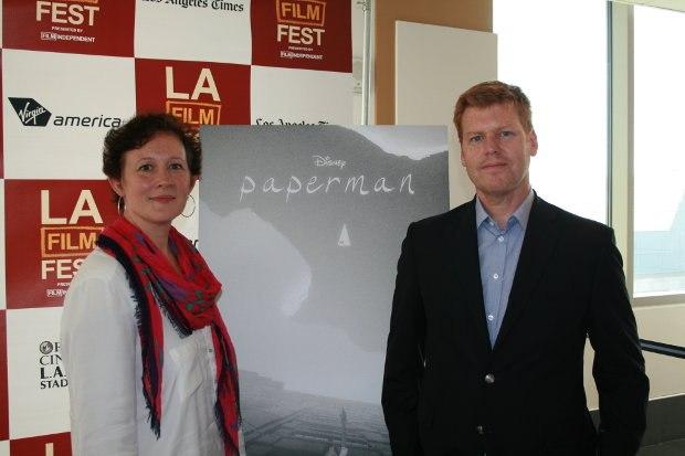 Paperman Producer Kristina Reed and Director John Kahrs.