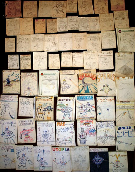 Just some of the comic books I drew as a kid.
