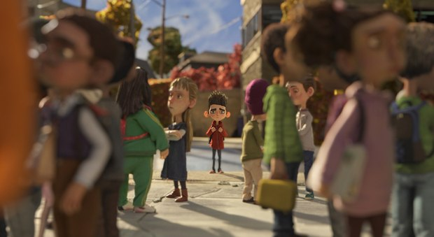Norman (voiced by Kodi Smit-McPhee) feels like an outsider at school. All images courtesy of LAIKA, Inc.