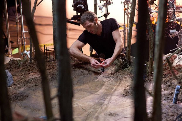 Producer, Head Animator and Company CEO Travis Knight at work with Norman on the graveyard set. All images courtesy of LAIKA, Inc.