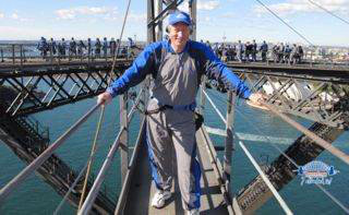 Yours truly, atop the Sydney Harbor Bridge. A tourist