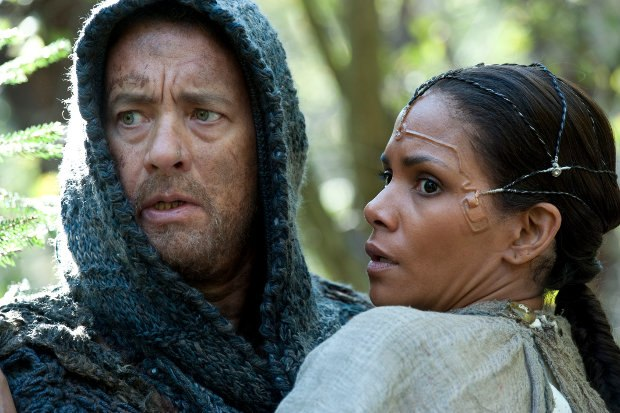 Tom Hanks as Zachry and Halle Berry as Meronym in Cloud Atlas, distributed domestically by Warner Bros. Pictures and in select international territories. Photo by Jay Maidment.