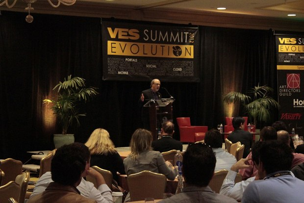 VES executive director speaks to the assembled VES Summit guests.