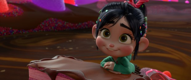 VANELLOPE VON SCHWEETZ in the video game world of Sugar Rush.