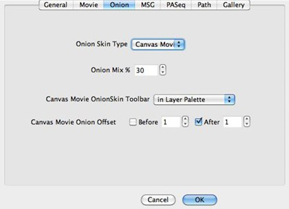 Canvas movie preferences in Synthetik StudioArtist.