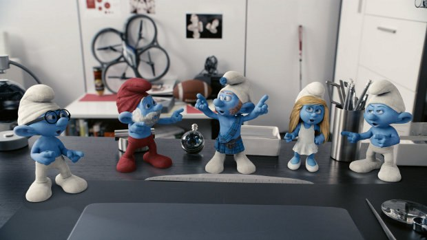 The Smurfs from The Smurfs Take Manhattan. Image © 2011 - Sony Pictures.