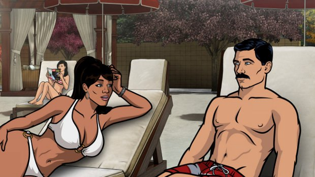 From Episode 1 of Season 4: Fugue and Riffs. Archer has amnesia and decides the only cure is a spa weekend. All images courtesy of FX.