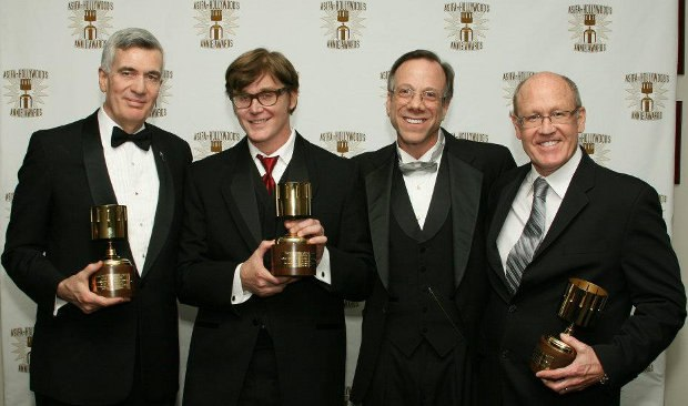 Frank Gladtone, second from right, with the 2008 Winsor McCay winners (from l-r) John Canemaker, John Kricfalusi and Glen Keane. Image courtesy of ASIFA-Hollywood.