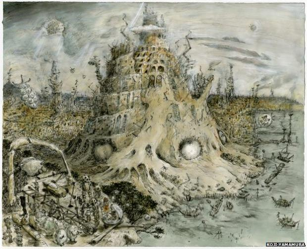 Koji Yamamura's vision of the future is based on a painting by Pieter Bruegel.