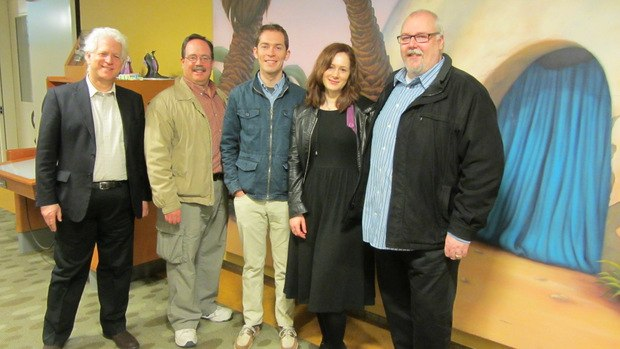 (From left to right) Ron Diamond, ARL expert guide Fox Carney, Tim Reckart, Fonhdla Cronin O'Reilly and me.
