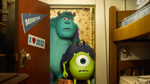 Sulley and Mike in Monsters University. All images ©2013 Disney•Pixar. All Rights Reserved.