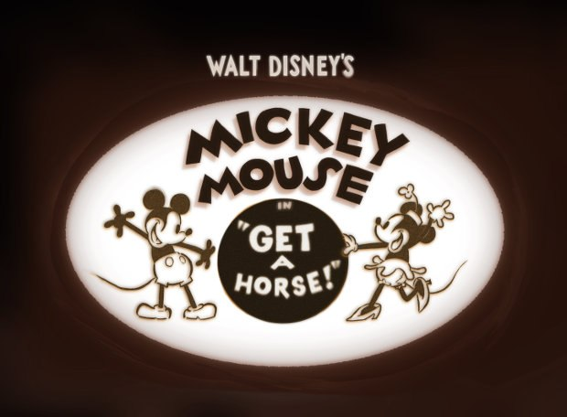 Disney's newest Mickey Mouse cartoon, Get A Horse. All images, except otherwise noted, courtesy of Disney.