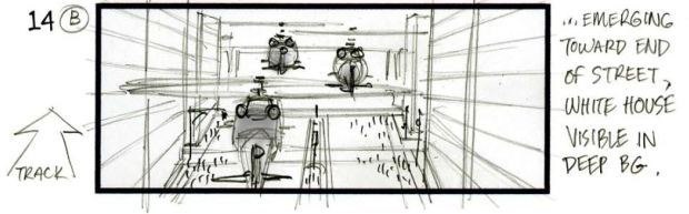 STORYBOARD (BY TIM BURGARD). All images courtesy of Uncharted Territory and © 2013 Columbia Pictures Industries, Inc.