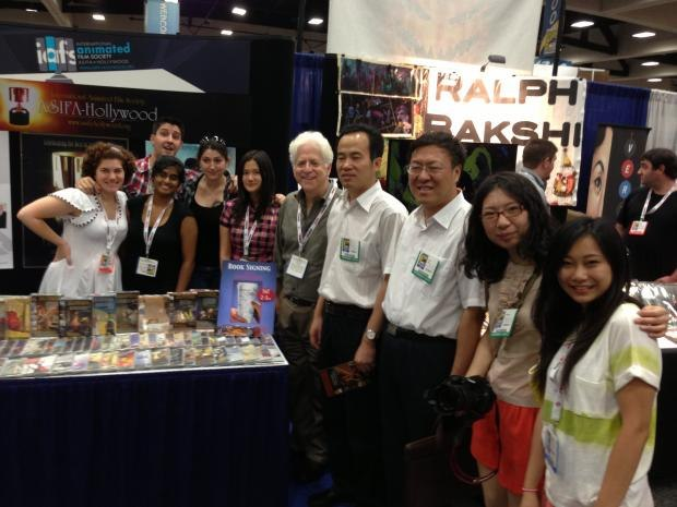 Pictured from left to right: ASIFA Hollywwod's Alexia Anastasio and Josh Sharp; Acme Filmworks crew members Anupama Hiregoudar, Josephine Moss and Amy Lee; Acme Filmworks Executive Producer Ron Diamond; China Department of Commerce delegates Tao Xu, Xihua Sun and Mengzhuo Li; Qianyun Shi, Acme Filmworks Crew