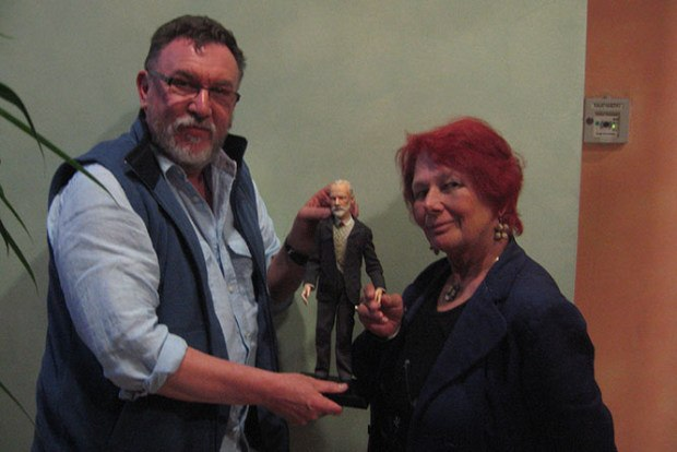 Barry Purves and Nancy with his Tchaikovsky puppet.