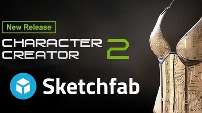 Character Creator 2 0 Connects to Sketchfab's 3D Content Viewer