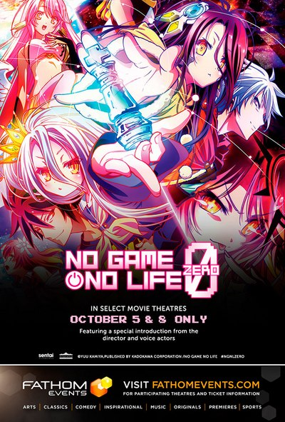 No Game Life Zero Will Debut In Movie Theaters Nationwide Through Fathom Events Partnership With Azoland Pictures On Thursday October 5