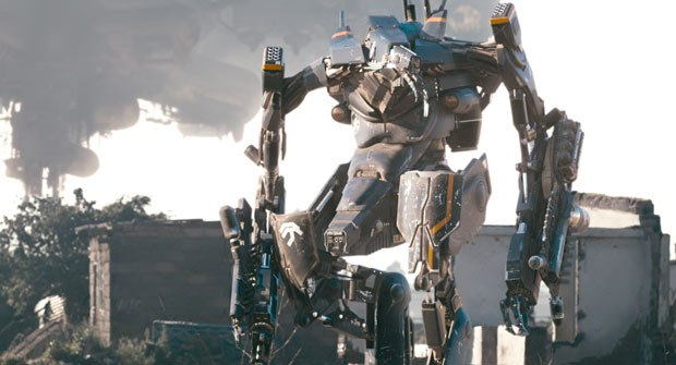 modo was invaluable in the modeling of the exo-suit, while, in the background, Weta Digital's work on the mothership included modeling and dirt sim challenges.