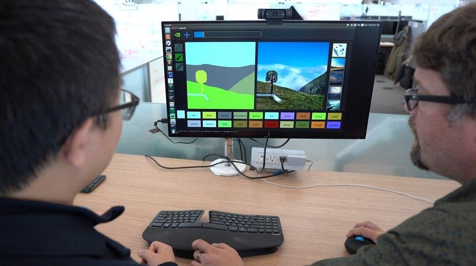 Stroke of Genius: NVIDIA Researchers Debut GauGAN at GTC 2019